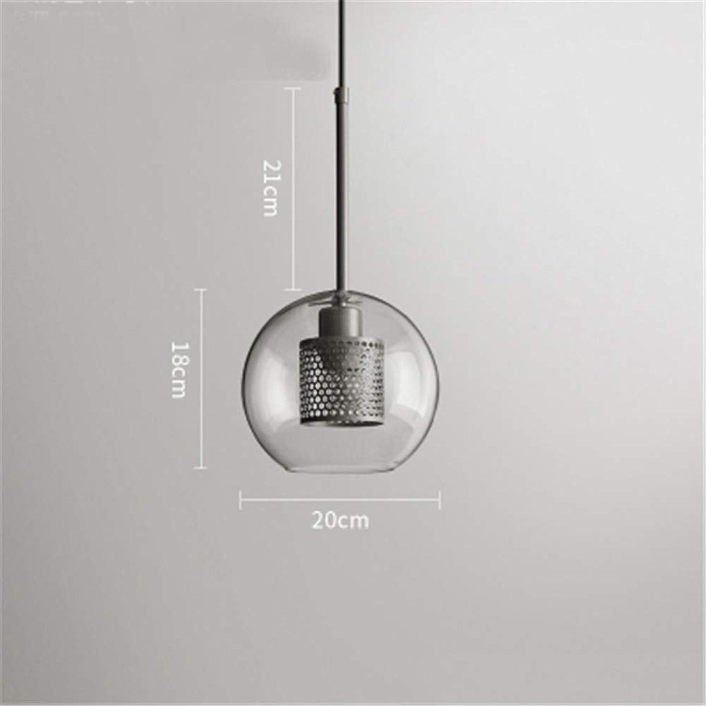 Moderne E27 Glaskugel Metallkugel-kürbis LED Pendelleuchte Dekoration Innenbeleuchtung Hotel Schlafzimmer Küche Beleuchtung Fixm