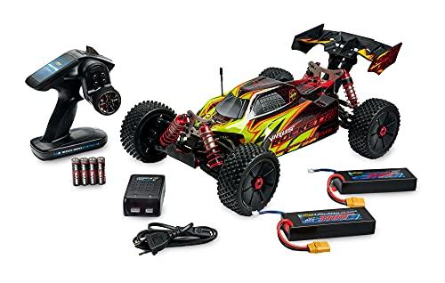 Carson 500409072 1:8 Virus Rocket 120 6S 2.4G 100% RTR, Coche teledirigido, vehículo teledirigido, Amarillo y Negro