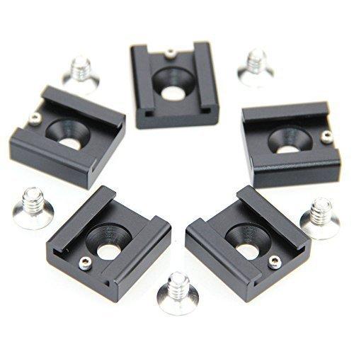 "CAMVATE 1/4"" Caliente Fría luz de Flash zapata para Blackmagic DSLR Rig Jaula de cámara de cine(5 piezas)"