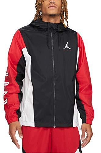 Nike Jordan Jumpman Air Giacca, Blanco/Rojo, L Uomo