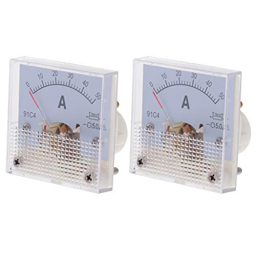 Fenteer 2xDC Analog Panel Amperemeter Auto Circuit Spannung Amperemeter Tester Gauge 50A 75mV