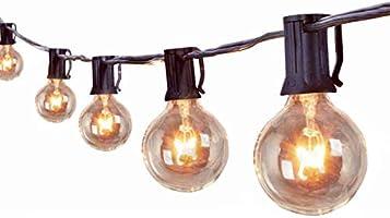 Outdoor String Lights 100 Ft 107 Pcs G40 Edison Bulbs Backyard Patio Lights for Pergola Balcony Gazebo Porch Wedding Party