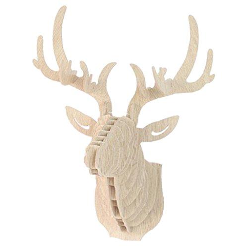 3D Modelo Ciervos Animales Escultura de Cabeza de Fauna Colgant de Pared...