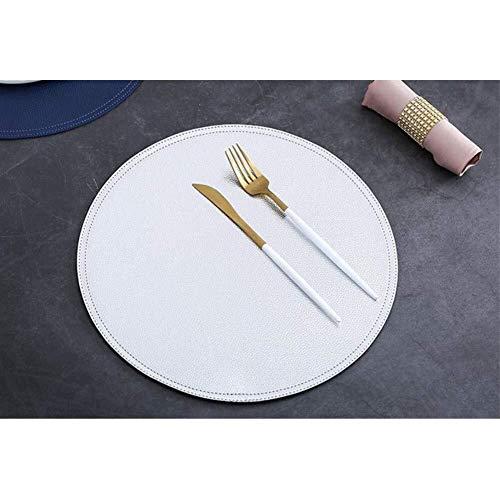 ZQ Tafelloper creatieve servies placemat, PU-lederen oplegger, eettafelmat, waterdichte warmte-isolatie, placemats, Bowl Coaster, voor decoratie