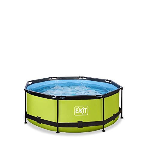 EXIT Lime Pool ø244x76cm mit Filterpumpe - grün