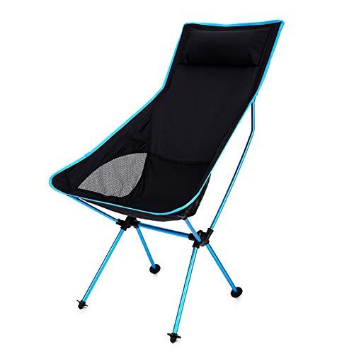Silla Plegable al Aire Libre reclinable Silla de aleación de Aluminio de Ocio para Acampar Silla de Pesca con Respaldo portátil