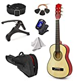 NEW! 30' Left Handed Natural Wood Guitar With Case and Accessories for Kids/Boys/Beginners