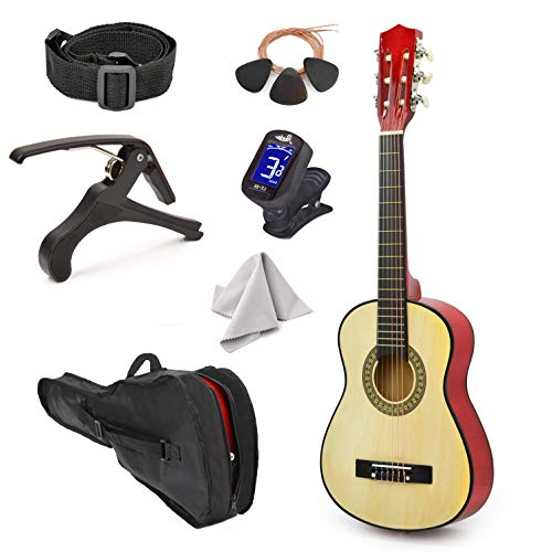 2. Master Play Left-Handed Natural Wood Guitar