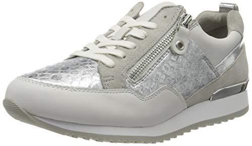CAPRICE Damen Ginga Sneaker, Silber (Silver/White 930), 39 EU
