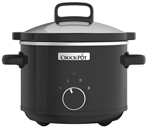 Crock-Pot CSC046 Slow Cooker, Removable Easy-Clean Ceramic Bowl, 2.4 Litre (1-2 People), Black