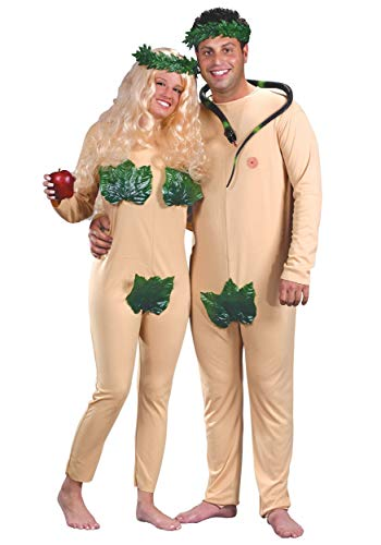 Halloween party couples adam and eve costume