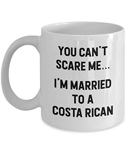N\A Esposa de Esposo costarricense para Costa Rica Pareja No me Puede asustar Estoy Casado Taza de café Divertida Regalo de mordaza para el día de San Valentín