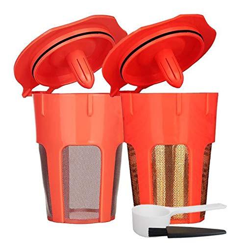 NEYOANN Filtros de café reutilizables para jarra K-Cup, repuesto recargable para 2.0 Brewers K200 K300 K400 K500 Series