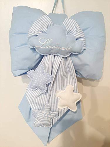 Niri Natura Artigiana - Fiocco nascita personalizzato bimbo bimba fatto a mano