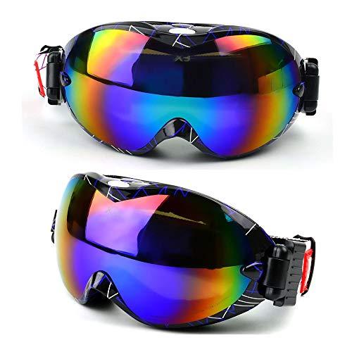 Ouuager-Home Schutzbrille Große Sphärische Double-Layer-Anti-Fog-Cola-Karte Myopie Skibrille Mehrfarben Optional Brille Motorradbrille (Color : Black line)