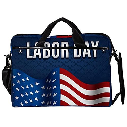 Bolsa de hombro para portátil de 15 pulgadas, con diseño exquisito, bandera americana para MacBook Pro, MacBook Air Ultrabook Xps