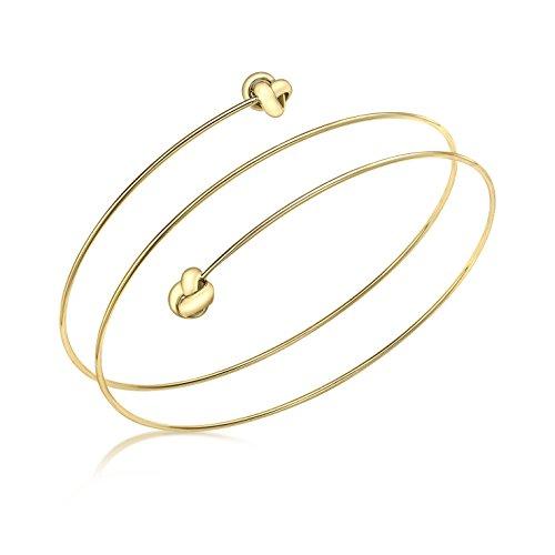 Carissima Gold Damen-Armreif Knots Spiral 375 Gelbgold 0.1 cm - 1.37.2129