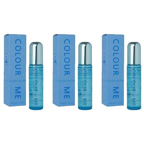 Pack de 3 fragancias para mujer Colour Me Sky Blue Milton Lloyd Perfume Parfum De Toilette 50 Millilitros
