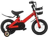 Bicicleta de montaña de 16 pulgadas con ruedas de entrenamiento y cesta para 2-8 años de edad, equilibrio