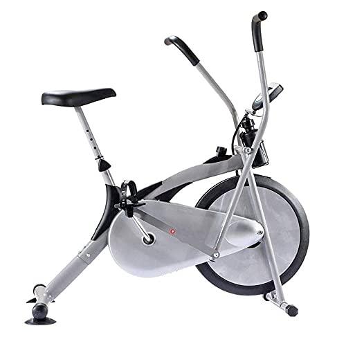 SAFGH Bicicleta de Ejercicios Vertical y de Entrenamiento elíptica con frecuencia cardíaca, Bicicleta de Ejercicios con Asiento Ajustable para el hogar, Pantalla Digital con LCD, Base Segura y EST
