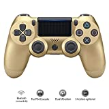 lz per ps4 playstation 4 controller wireless bluetooth dualshock joystick a doppia vibrazione gamepad per caricabatterie console ps4 dorato