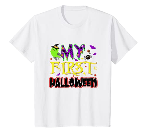 Kids My First Halloween Cute Boo Halloween Vibes Baby Girl Boy T-Shirt