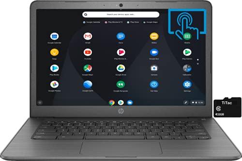 2021 HP Chromebook 14 Inch Touchscreen Laptop, Intel Celeron N3350 up...