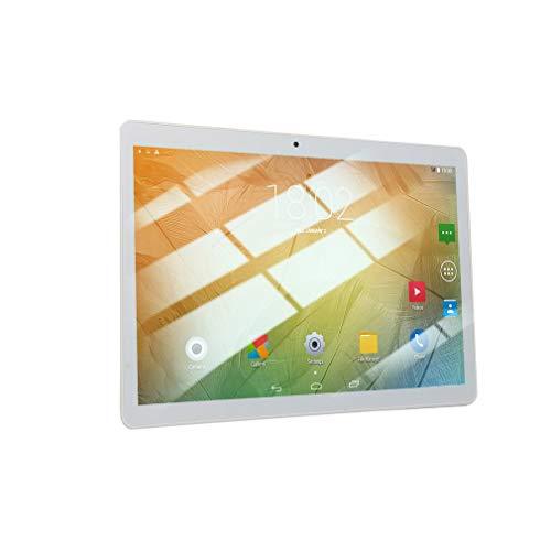 YXDS Tableta 10.1 Pulgadas HD Pantalla Grande Android 8.10 Versión Moda Tableta portátil 1GB + 16GB Tableta Blanca