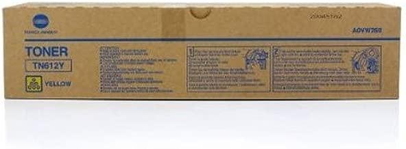 Konica Minolta TN612Y A0VW230 Bizhub Pro C5501 C6501 Toner Cartridge (Yellow) in Retail Packaging