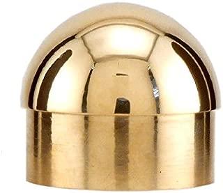 KegWorks Domed End Cap - Polished Brass - For 2