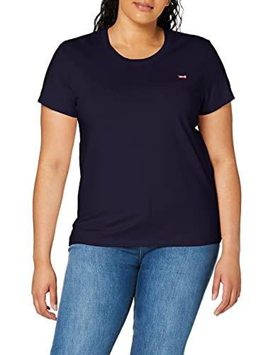 Levi's Damen Perfect Tee T-Shirt, Sea Captain Blue, M