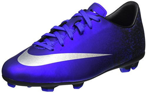 Nike Jr Mercurial Victory V CR FG, Botas de fútbol Unisex niños, Azul (DP Ryl Bl/Mtllc Slvr-Rcr Bl-Bl), 35 1/2 EU
