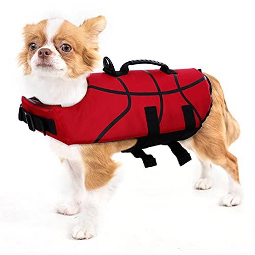 PUMYPOREITY Giubotto Salvagente per Cani Gliet Salvataggio LifeSaver Vest Salvagente Protettivo Giacca Nuoto Mare con Fissaggio Regolabile e Manico pe