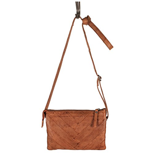 Latico Leathers Sunny Women's Purse in Cognac - Made From Authentic Leather Handcrafted by Artisans