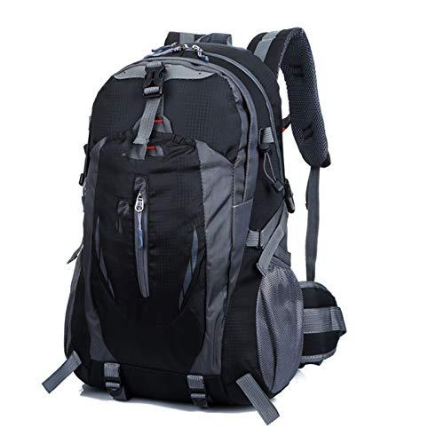 Yi-xir Mochila de diseño de moda para hombre y mujer, bolsa de deporte para viajes al aire libre, mochilas impermeables ligeras y duraderas (color: negro, tamaño: A)