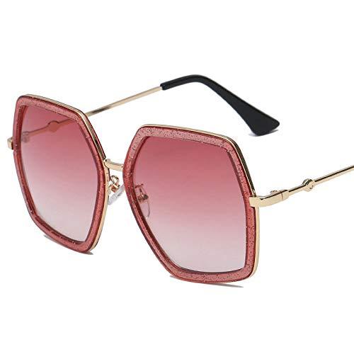 Hombres Retro Gafas De Sol Marco De Lente Rosa Gafas De Sol para Mujer Gafas De Sol Cuadradas Gafas De Sol De Moda para Mujer Gafas De Sol De Montura Grande Retro Vintage Gafas De Sol Femeni
