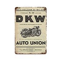 DKWモトサイクルその他のバイク4ブリキ看板ヴィンテージ錫のサイン警告注意サインートポスター安全標識警告装飾金属安全サイン面白いの個性情報サイン金属板鉄の絵表示パネル