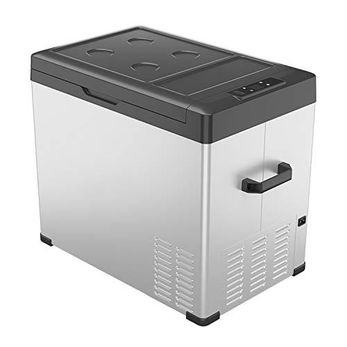 KLFD Mini Refrigerador Portátil, Congelador para Automóvil de 50L, Control Bluetooth, Compresor de 12V / 24 V, Enfriamiento Rápido de 20 ° a -20 °, para Automóviles, Dormitorios, Viajes