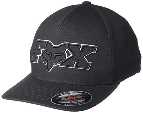 Fox Gorra de béisbol Ellipsoid Flexfit para Hombre, Hombre, Gorra de béisbol, 24421, Negro, L-XL