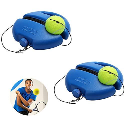 LZ Hochleistungs-Tennis-Trainingshilfen-Werkzeug Mit Elastischem Seilball üBen Self-Duty-Rebound-Tennistrainer Partner-Sparring-Gerät 2St