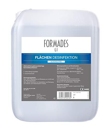 - FORMADES GF - Schnelldesinfektion für Flächen - alkoholfrei - 5 Liter - 1 Kanister