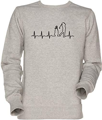 Vendax Golf Latido del Corazón Unisexo Hombre Mujer Sudadera Jersey Gris Men's Women's Jumper Sweatshirt Grey