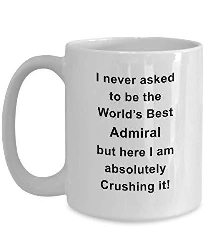 N\A dmiral Gifts - Taza de té/café Admiral, Taza de café única para Almirante, cerámica