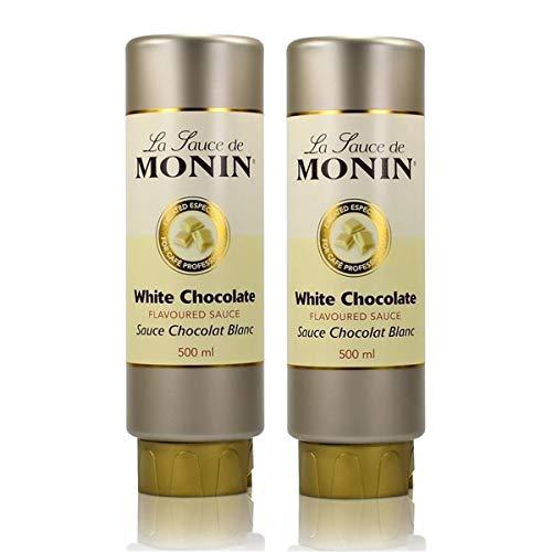 2x Monin Weiße Schokolade Sauce 500 ml - White Chocolate Flavoured Sauce