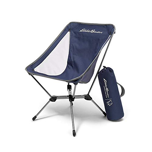 Eddie Bauer Unisex-Adult Packable Camp Chair, Med Indigo Regular ONE SIZE