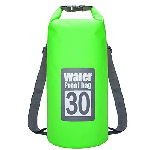 Tuimiyisou Bolsa Impermeable Seco 30l Piscina Mochila con Correa Ajustable para El Kayak Canotaje Deriva Verde