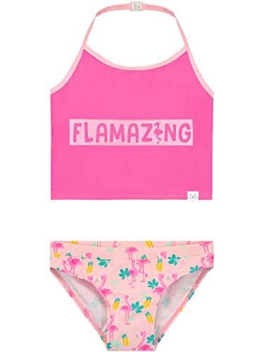 Harry Bear Bañador Niña Flamingo Rosa