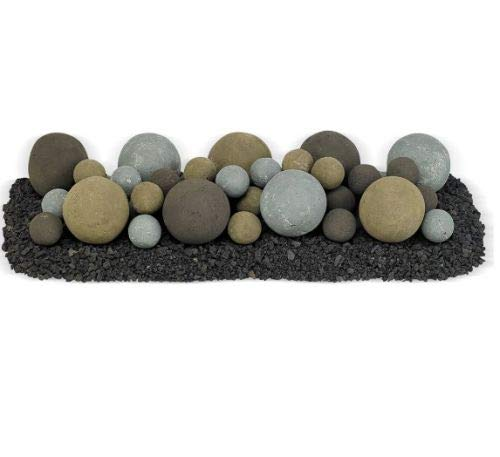 Find Cheap American Fireglass 24 x 8 Natural Lite Stone Ball Set - Mixed