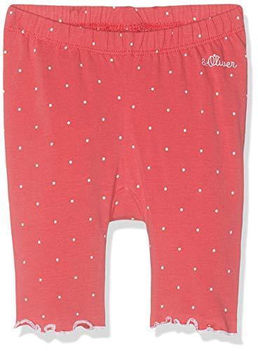 s.Oliver Baby-Mädchen 65.904.75.2770 Leggings, Rot (Pink AOP 45a2), (Herstellergröße: 74)