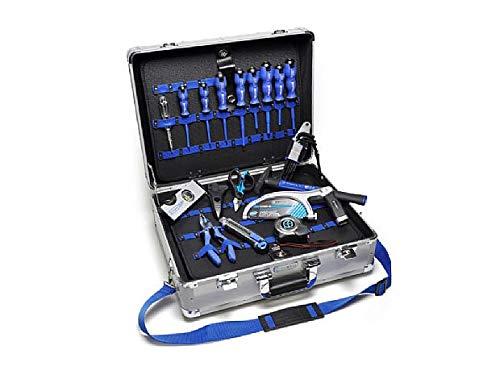 Cembre KIT-VAL-GPTA-L Kit koffer van aluminium gesorteerd met cutter + schaar + hamer + 8 schroevendraaiers + sleutel + slang + keramische + waterpas + tang (19 gereedschap)